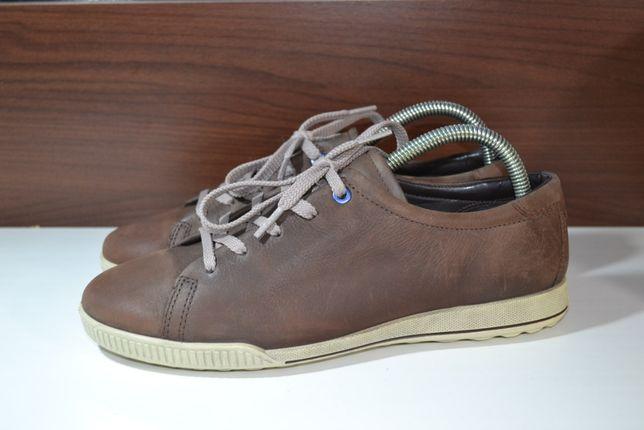 ecco 40р кроссовки ботинки сникерсы кожаные
