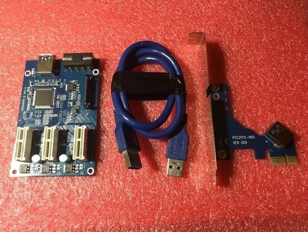 Райзер riser PCI-E to 3 PCI express