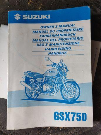 Manual utilizador Suzuki GSX 750 anos 90