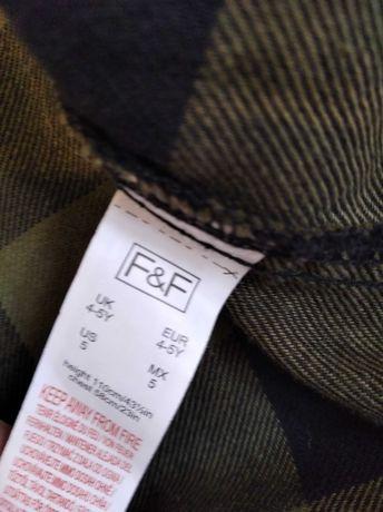 Koszula f&f kratka rozmiar 4-5 lat