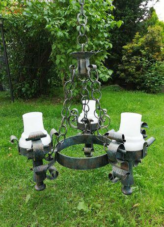 Stary żyrandol lampa wisząca z lat 50 vintage retro