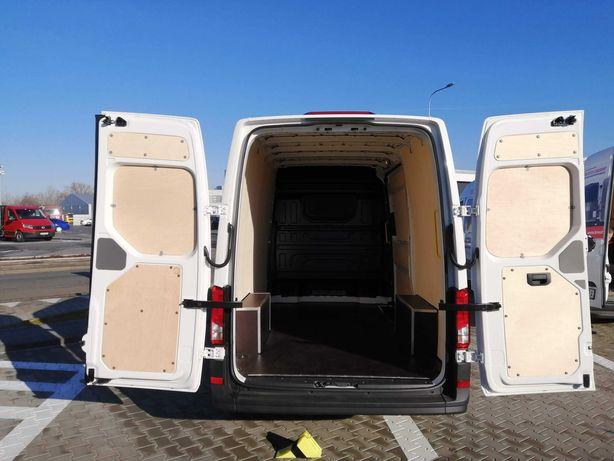 Zabudowa samochodu dostawczego Crafter L3/L4/L5 podłoga boki drzwi