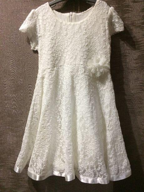 Платье тм Breeze белое 5-8лет