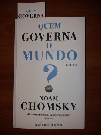 """Livro """"Quem Governa o Mundo?"""" de Noam Chomsky"""