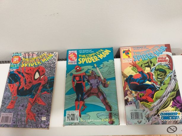 Marvel Complete Spider Man komiksy 1/90 i 6,8/91