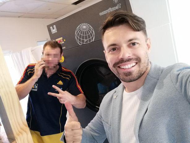 Máquina de secar roupa industrial 30kg