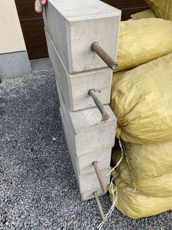 Slupki betonowe na wiate