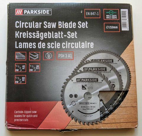 Conjunto de 3 lâminas de serra circular Parkside