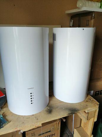 Wyspowy okap kuchenny - Klarstein - biały.49,5 cm, LED, 650 m3/h,nowe