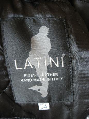 LATINI Włoski męski skórzany płaszcz, kurtka z wysokiej jakości skóry