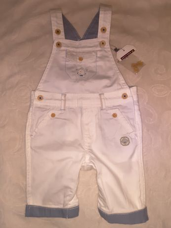 Новый нарядный комбинезон 62-68/Ромпер для модника +боди в бонус