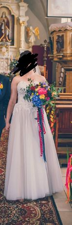 Suknia ślubna vanessa model 1708 prinessa roz.38 do 42 promocja
