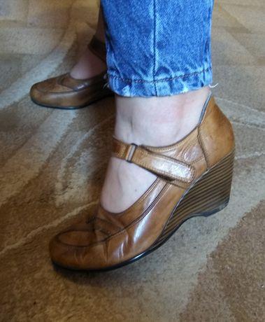 Туфли кожаные, шкіряні туфлі 38,5-39 р.