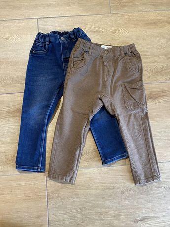 Spodnie chlopiec rozm. 98 Zara H&M jeansy chinosy