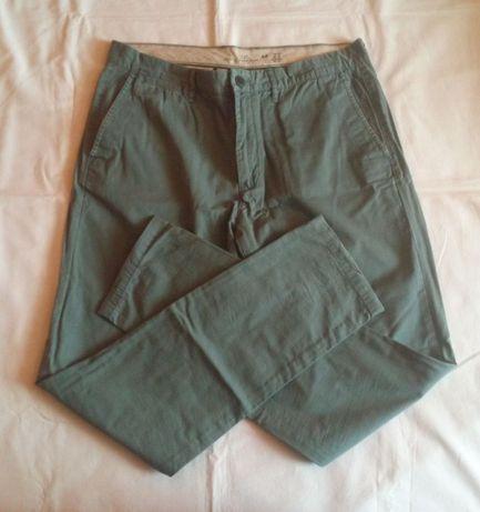 Spodnie meskie chino HM r. 36 khaki moro proste vintage moro superdry