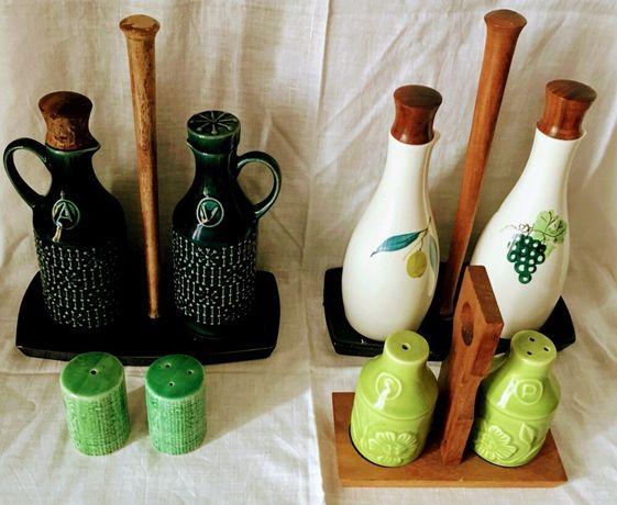 SECLA - galheteiros e saleiros/pimenteiro (verde claro vendido)