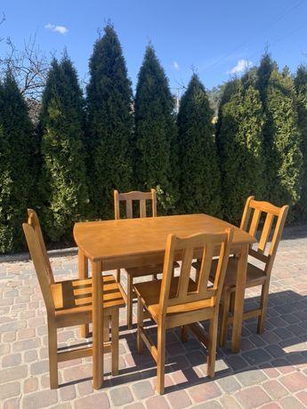 """Stół kuchenny sosnowy """" Amur"""" i krzesła sosnowe """" Paryż"""""""