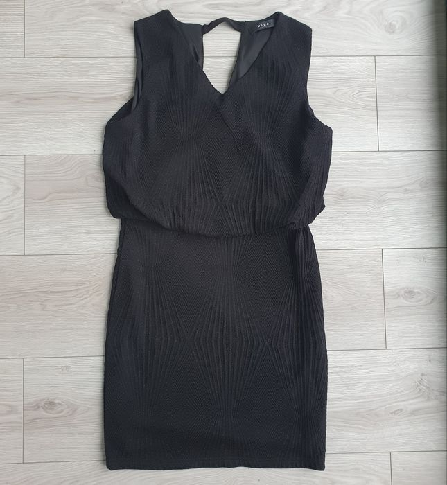 Sukienka czarna stan bardzo dobry Vila L 40 Piaseczno - image 1