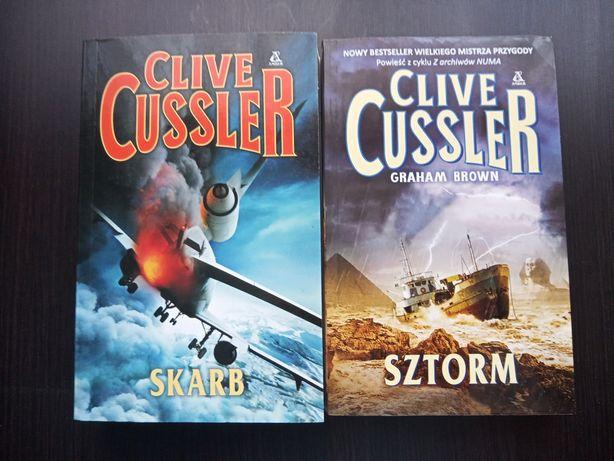 Clive Cussler, zestaw 2 książek Sztorm i Skarb