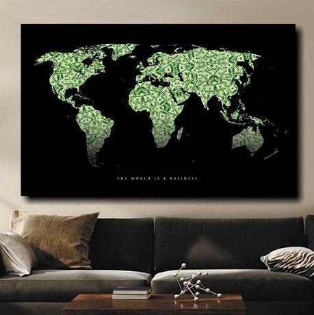 Статусная картина Карта Мира / Карта Світу. Ексклюзивный подарок!