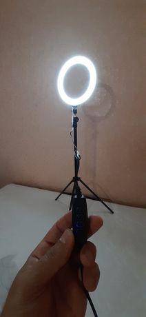 Кольцевая лампа 26 см + штатив в зборе Led з держателем для телефона