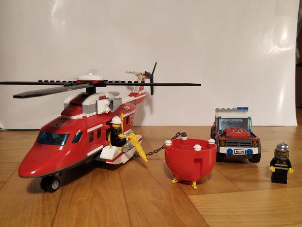 LEGO 7206 Helikopter gaśniczy i auto pomocnicze+instrukcja!