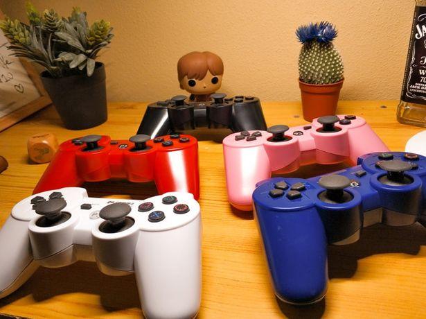 Comando Ps3 - Azul, Preto, Vermelho, Branco, Prata, etc **NOVO**