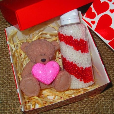 Набор: мыло и жемчуг для ванны ручной работы - подарок любимой девушке