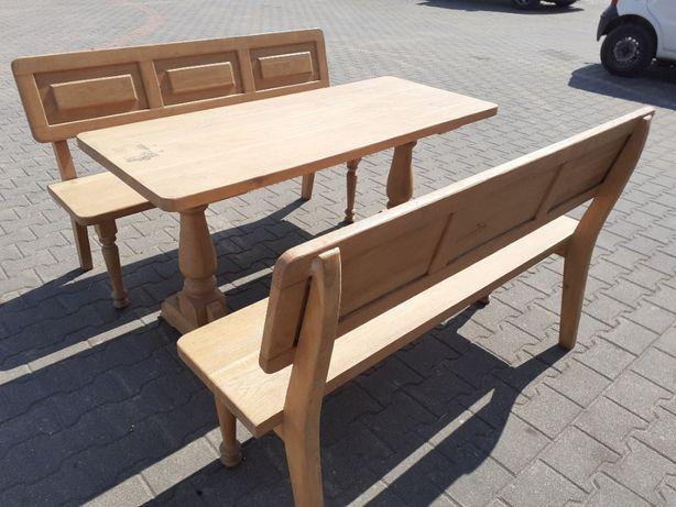 Ławki i stoły dębowe