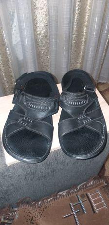 Кожаные мужские ортопедические сандалии-шлепки