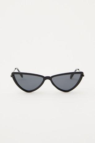 Новые чёрные солнцезащитные очки кошачий глаз pull&bear