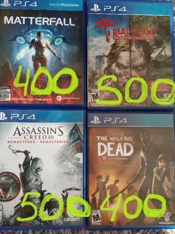 Игра Dead Island / Walking Dead / assassin creed III / Matterfall PS4