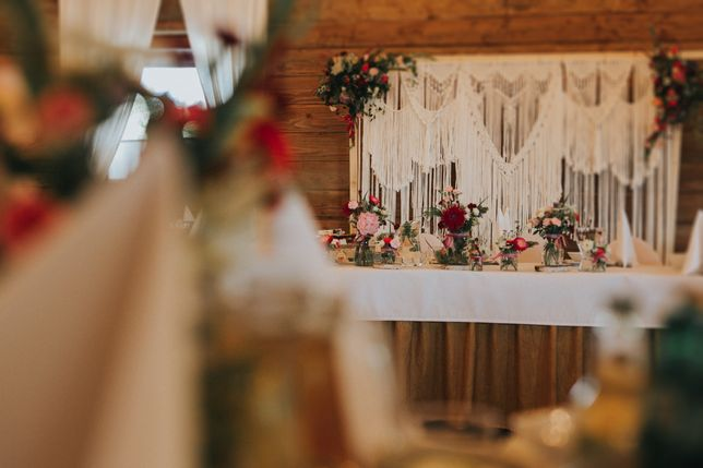 Makrama ścianka Boho ślub wesele