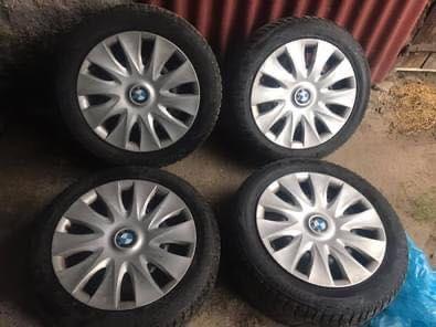 Felgi stalowe 16 cali 5x120 + kołpaki BMW E87 (4 sztuki)