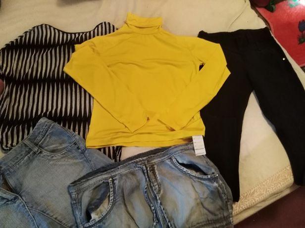 Брюки, джинсовые юбки, водолазка, блузка - пакет одежды