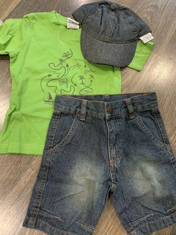 Набір літній з кепкою та шортами/капрями для хлопчика Вік 1 рік