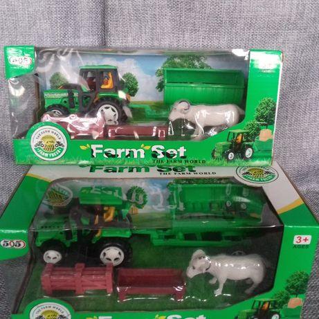Traktor z przyczepą - mała Farma World