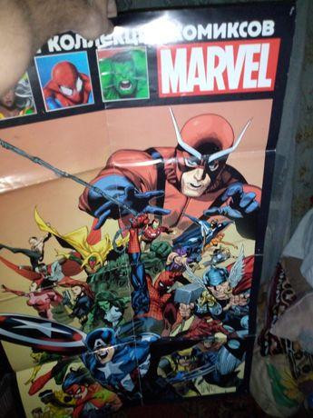 Постеры Marvel A4, и большой A1