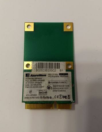 Wi-Fi/Wifi модуль/адаптер Mini PCI-E AzureWave 802.11 b/g AW-NE785