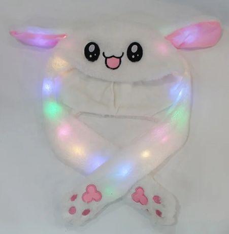 Хит!Светящаяся шапка Pikachu toys с двигающимися ушками