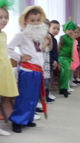 Украинский костюм вышиванка шаровары брыль на 5-7 лет