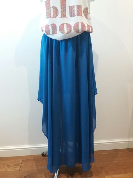 Spódnica maxi w modnym chabrowym kolorze S/M