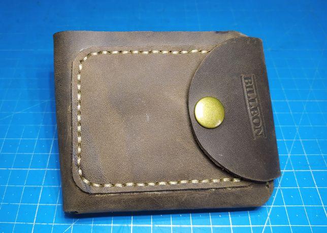 Кожаный кошелек, портмоне ручной работы