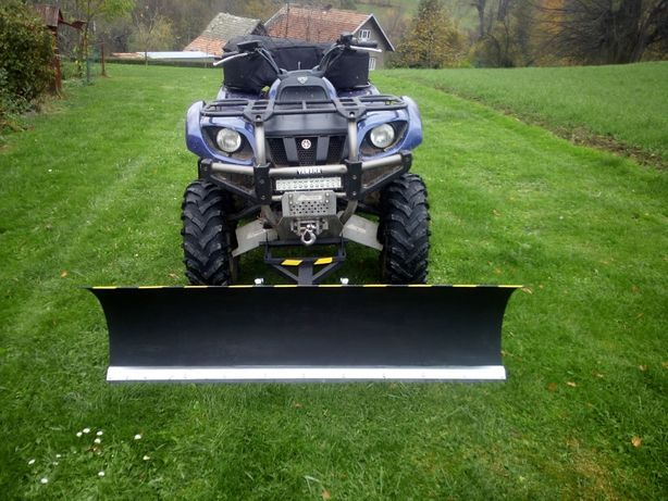 pług do śniegu quad traktorek solidny blacha 4mm guma sprężyny