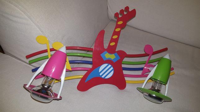 ŻYRANDOL dziecięcy KINKIET GITARA lampa ścienna