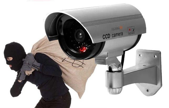 Реалистичный муляж камеры наблюдения на батарейках Dummy IR Camera