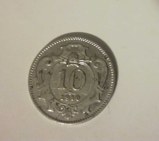 Stara moneta z 1910 roku. Austria.