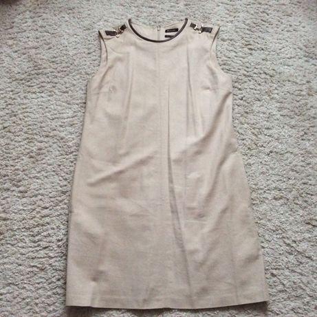Sukienka Massimo Dutti beżowa R. M/L