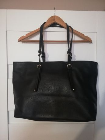Torebka czarna shopper Zara