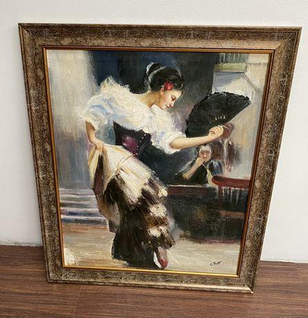 Obraz w ramie - kobieta, flamenco
